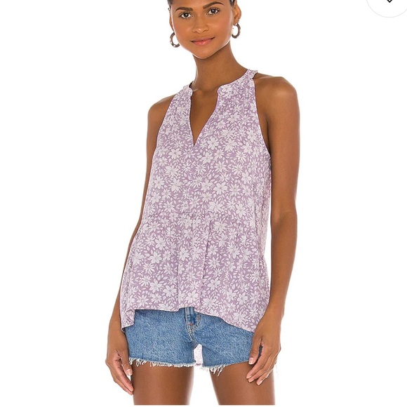 1. State Peplum Cami in Printed Mythical Floral